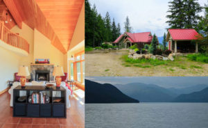 Slocan Lake, View inside and out
