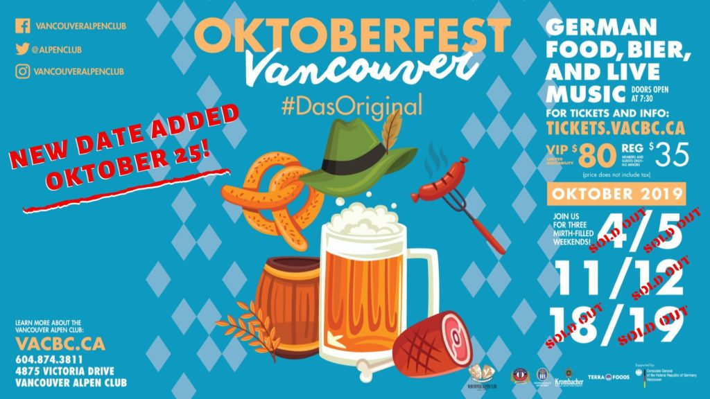 Oktoberfest at the Vancouver Alpen Club!