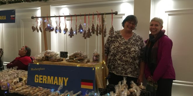 German Vendor at christmas market