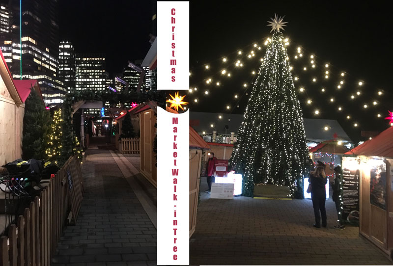 Walk-in Christmas Tree, plus Walking Paths at the Vancouver Christmas Market.