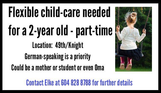 Child care wanted