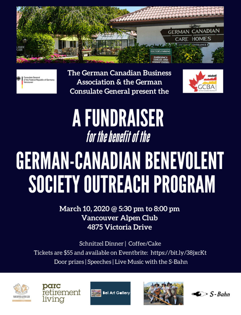 Poster for the German-Canadian Benevolent Society Outreach P