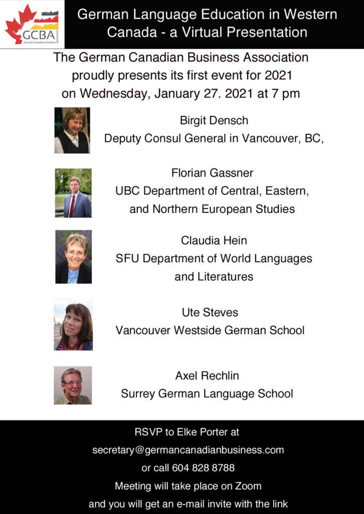 Poster for the German Language Education Event