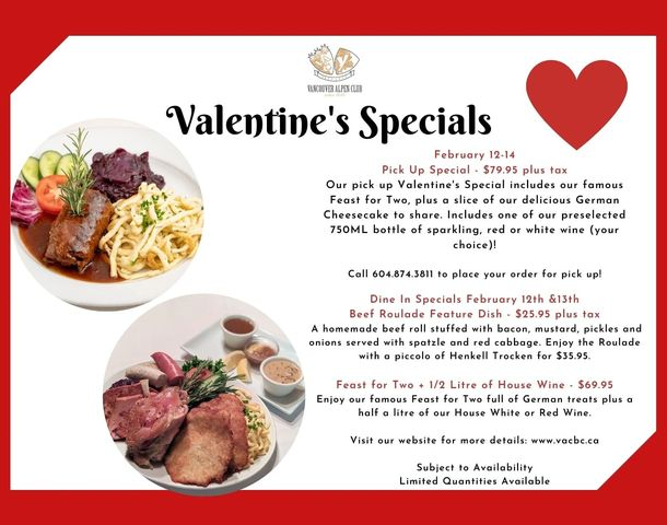 Valentines at the Vancouver Alpen Club